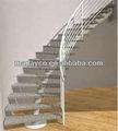 Recta/espiral/moderna de arco de bambú sólido escaleras/piezas de la escalera