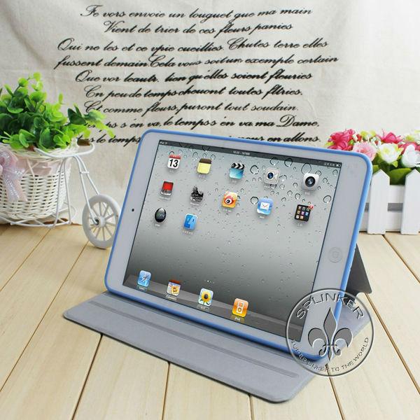 Best Buy 7 PU Leather Case Jean PU Case For Mini Ipad U3205-5