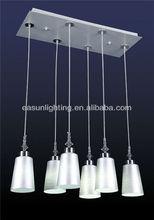 Silver Glass Pendant light with E27 socket