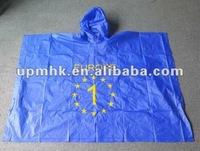 disposable plastic raincoat for men/kids