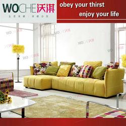 Tropical yellow color fabric sofa living room furniture (WQ8801)2013 recliner sofa