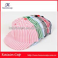 Colorful stripes print snapback hats/caps OEM fashion baseball caps