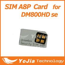Orginal Software Security SIM A8P for Dm 800hd se satellite receiver or 800hd se cable receiver