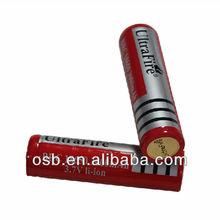 18650 3000mAh 3.7V li-ion rechargeable battery for strong LED flashlight