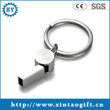 Promotional hot sale whistle key finder keychain