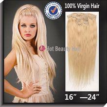100% virgin claw hair clip for hair pieces
