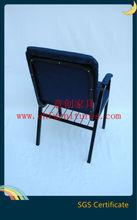 Durable iron,soft back and armrest, bookshelf, blue chuch chair YC-G36AF