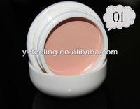Whoelsale price Hot Sale Single Color Makeup Face Concealer gel cream cake pot Palette 01#, 10 Color Select