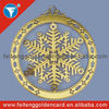 custom shiny metal snowflake ornaments for xmas gifts