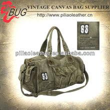 Mens 20 OZ Cotton Canvas Duffel Bag/Travel Bag/Weekender Bag