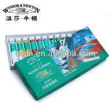 WINSOR&NEWTON 12ml 12colors fine acrylic colour for acrylic paint on the canvas