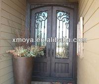 Main door designs double hung entry security steel door