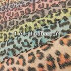 leopard printed pu glitter leather