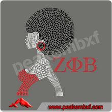 2013 Design Afro Girl Crystal Rhinestone Applique For Garment Accessory