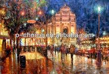 M-249 Impressionist Paris Scenery Street Scene Canvas Oil Painting
