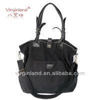 New Arival Cotton Canvas Tote Bag Black Standard Size Canvas Tote Bag 2014 Spring & Summer Tote Bag Wholesale