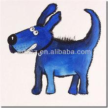 cartoon dog oil painting artwork for children