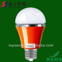 Orange Color Shell HOT SALE 5730 SMD 7W Sharp LED Bulb (CE&ROHS)