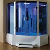 blue glass steam shower room; Mexda steam shower room;massage bathtub with steam room(CE ETL)