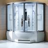 white glass steam shower room; Mexda steam shower room;massage bathtub with steam room(CE ETL)