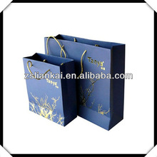 custom full color printing luxury paper shopping bag