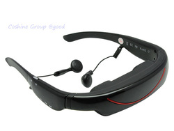 """4GB 72"""" Video Glasses Virtual Personal Cinema Theater Stereo MP3 E-book AV In"""