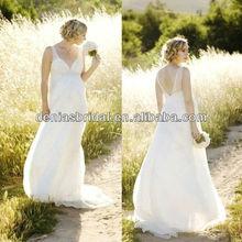new design spring taste beading maternity bridal wedding gowns