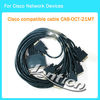 10FT cisco Cable CAB-OCT-X21MT LFH200pin to 8 DB15 DTE Male