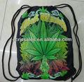 Rasta pot folha jamaicano reggae folha de algodão com cordão gym bag