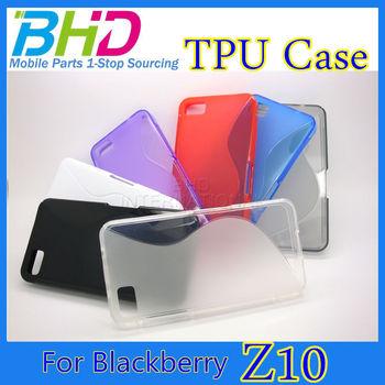 Hot selling tpu case for Blackberry Z10 Case