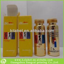 Printed testosterone vial decorative glass vial