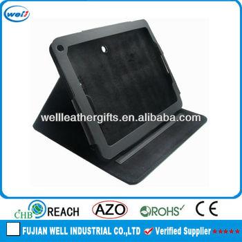 2014 fashion black leather laptop case