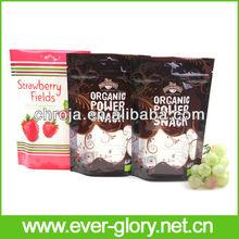 OEM CMYK Gravures Printing Standing Up Zip Top Fruit Packaging Cherry