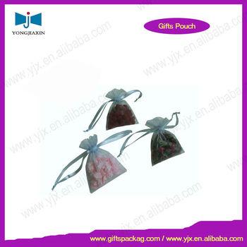 fashion promotional organza mini drawstring bag