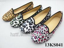 Lady leopard flats shoes