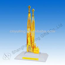 Crystal tourist souvenir art building model of europe Sagrada Familia Crystal JY85