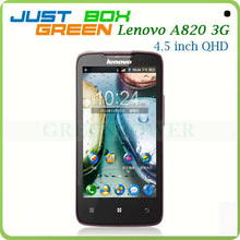 Wholesale China Brand Mobile phone Lenovo A820 Android 4.1.2 Quad core 4.5 inch IPS Screen 1GB RAM 4GB ROM Dual sim card.