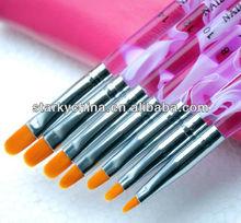 7 Pcs/set Acrylic Nail Art Brush Pen Set UV Gel Brush