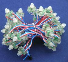 DC 5V input 12mm WS2811 pixel node,WS2811 pixel strings 50pcs a string,IP68 rated