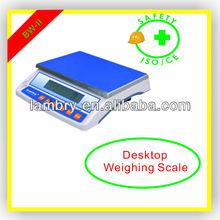 Digital weighing scale desk