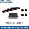 4 Ultrasonic Sensors Car Radar Detector Parking Sensor System with LED display Distance Alarm