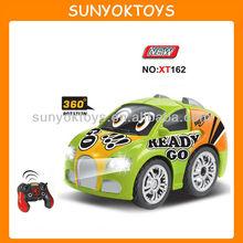 Q Style! 360 Rotation RC mini micro stunt Remote Control radio car;dirft car