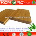 Clique- bloqueado revestimento de bambu, top vendedor! Vertical carbonizado completo clique de óxido de alumínio revestido de bambu pisos