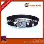 2013 Fashion Canvas Web Belt,STAR, Black, STAR Buckle,Rockabilly,Rat Rod,Military