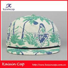 Hawaii Island beautiful girl printed 5 panel snap back hat custom baseball cap