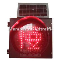 solar red slowly warning flashing lights 300mm