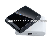 2012 best sale portable fashion power bank with dual USB