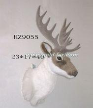 wall-mounted reindeer head, reindeer head decoration,grey reindeer head,artificial reindeer head