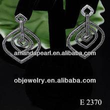 2013 newest silver drop ear rings for women