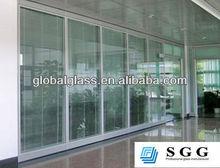 High quality silk-screen glass/decorative door glass /sliding door glass